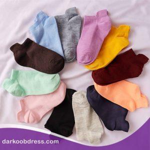 جوراب رنگی ساده